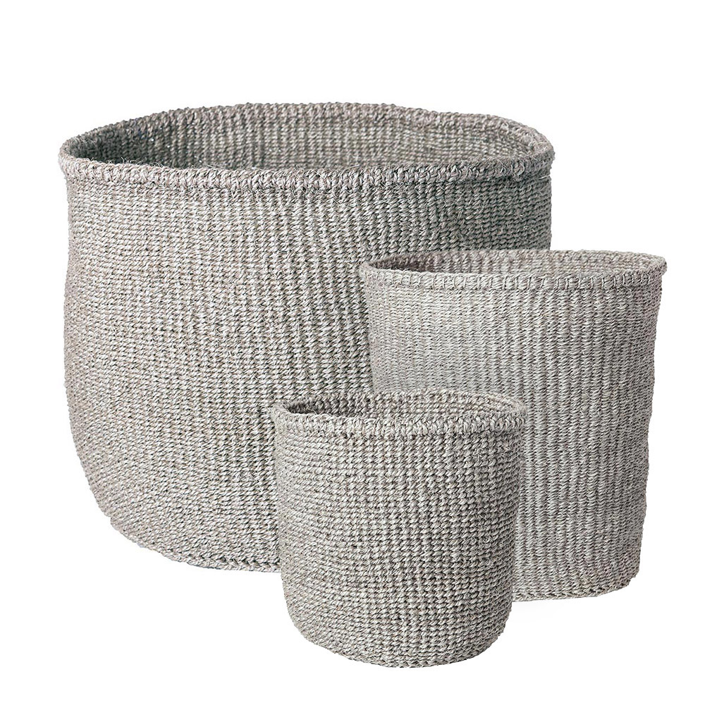 Solid Gray Baskets