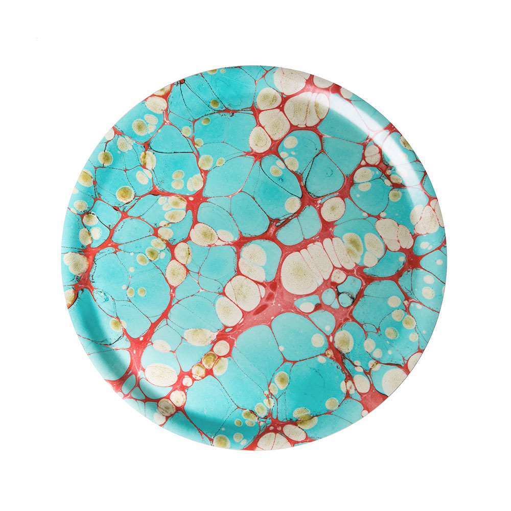 Turquoise Dreams Round Tray