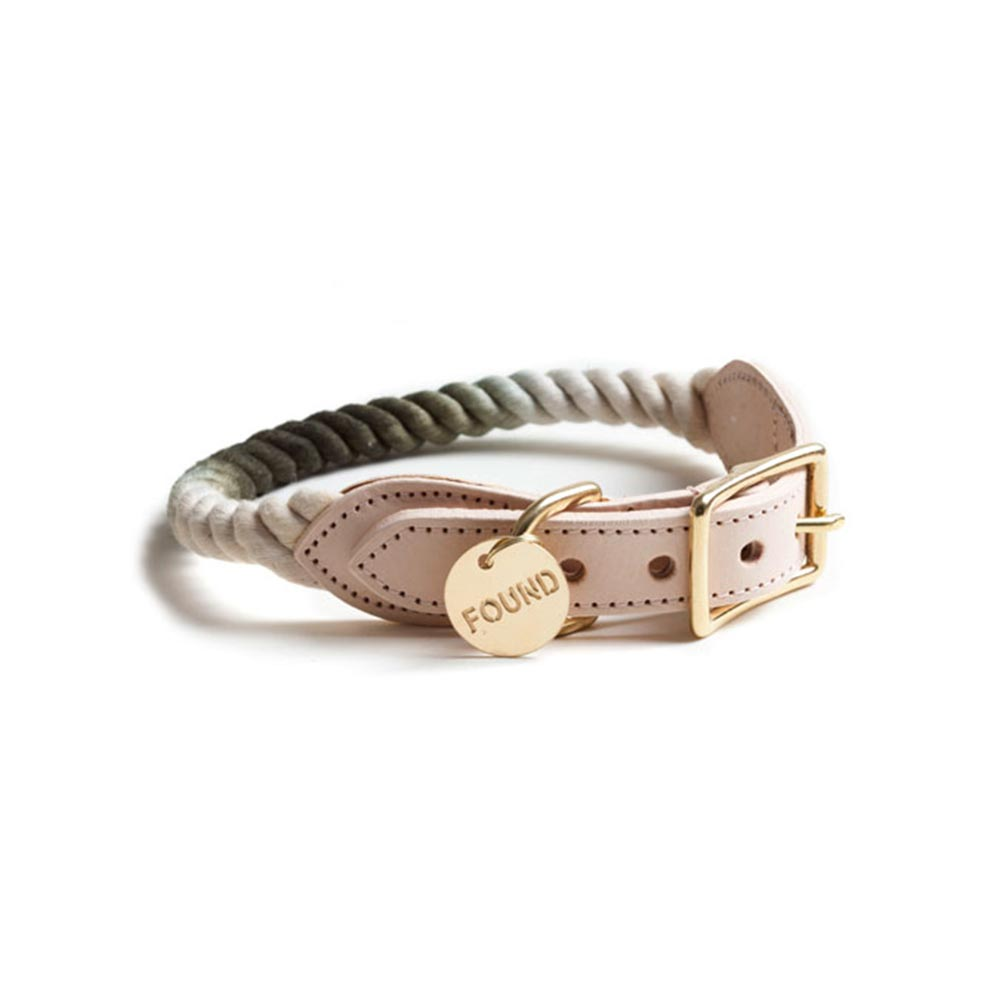 Olive Ombré Rope Cat and Dog Collar