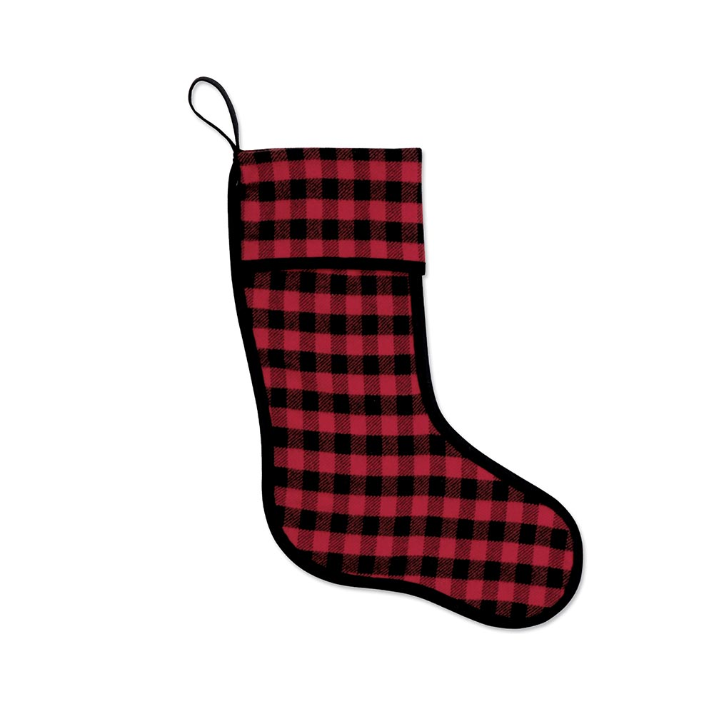 Red-and-Black Mini-Buffalo-Check Stocking