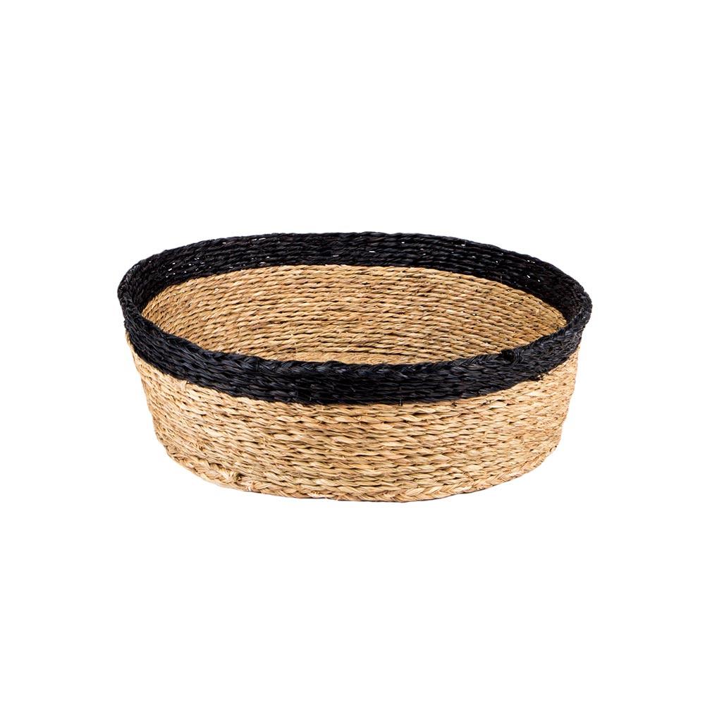 Round Black Bread Basket
