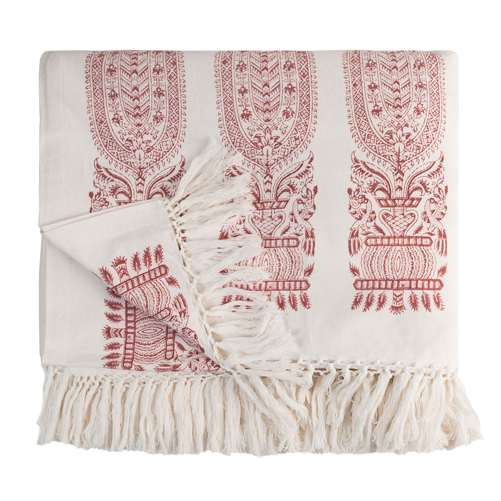Madder Red Royale Full/Queen Bed Throw