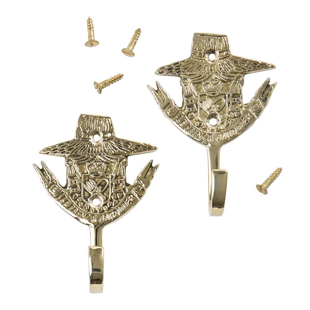 Small Brass Hooks (Set of 2)