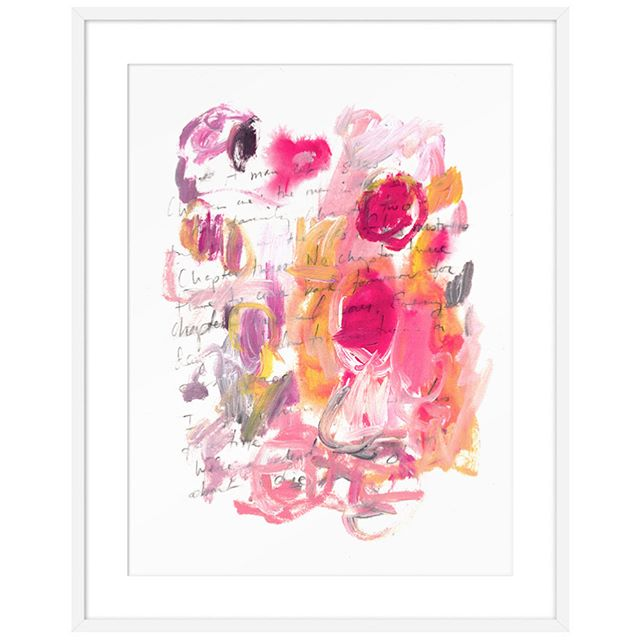 "Inspired by #cytwombly , artist @kellywitmer created this abstract work titled ""Chapter Three: no chapter three,"" available at The Maryn. Swipe to see some Twombly inspiration and simple art styling on a mantel. ♥️💕"
