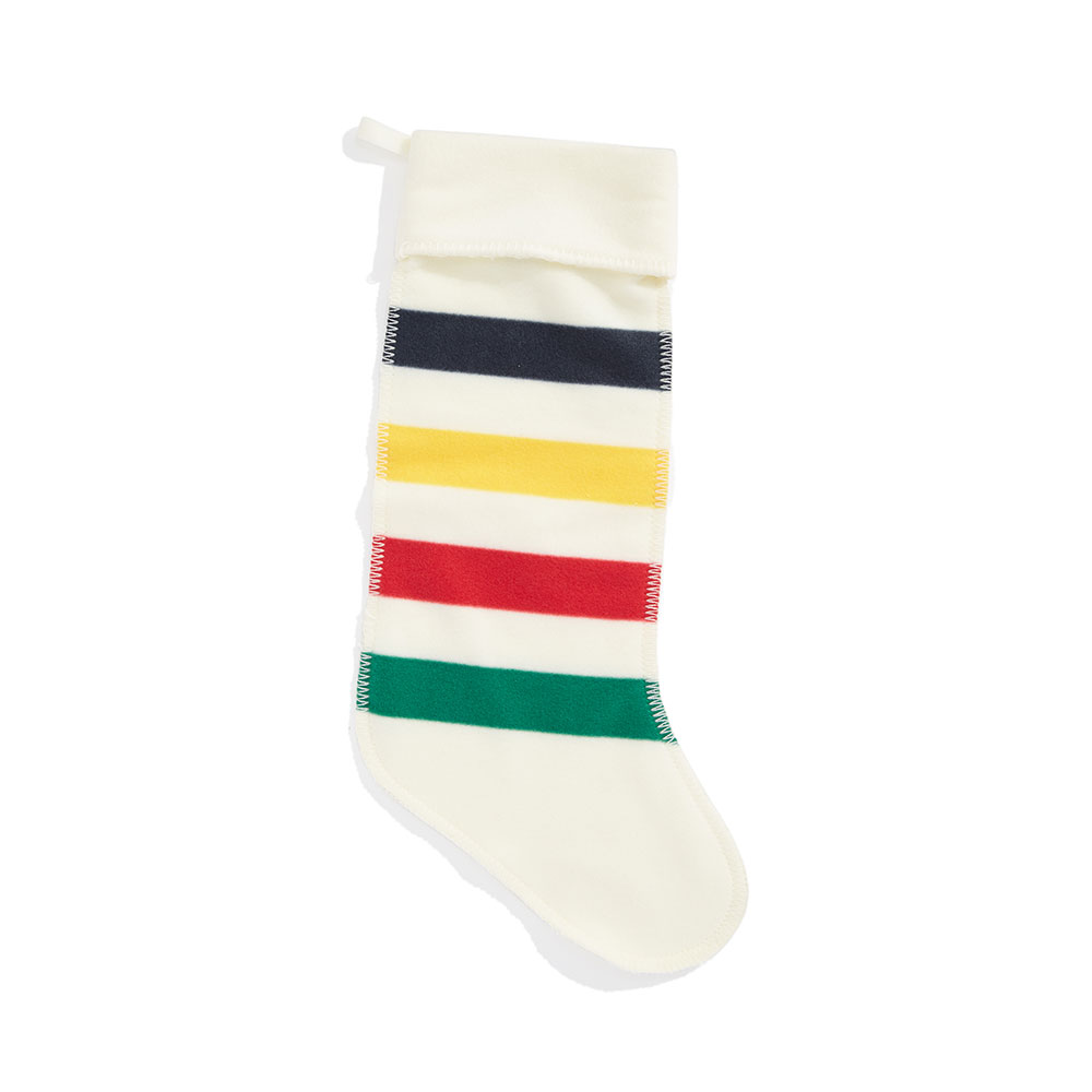 Multistripe Fleece Stocking