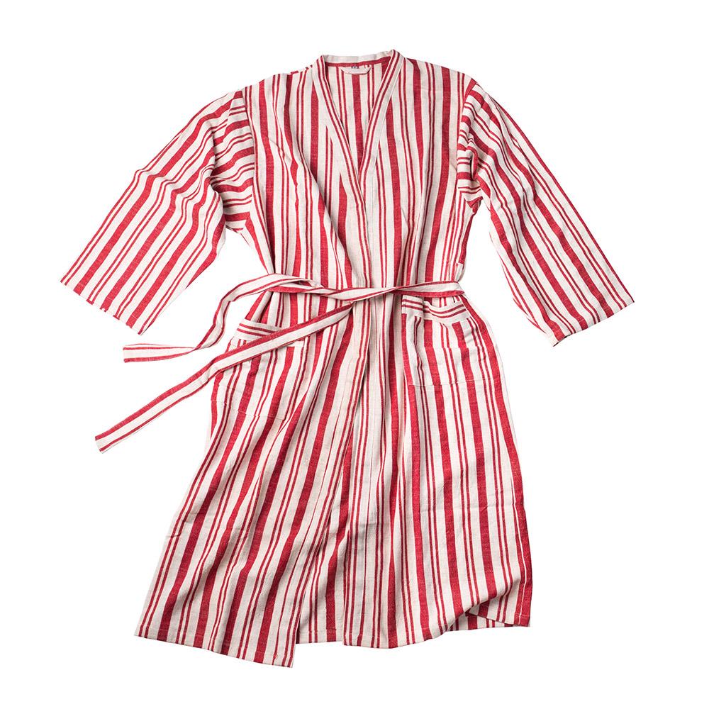 Juliette Handwoven Linen Robe