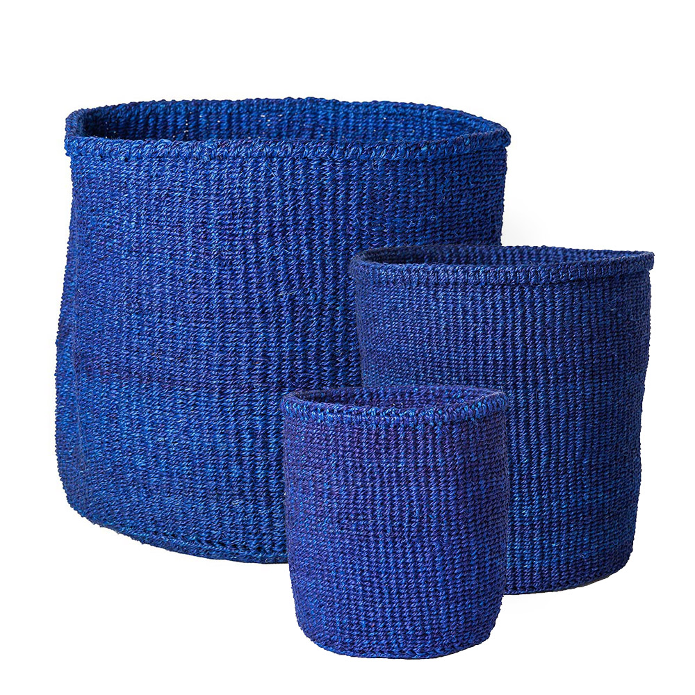 Solid Blue Baskets