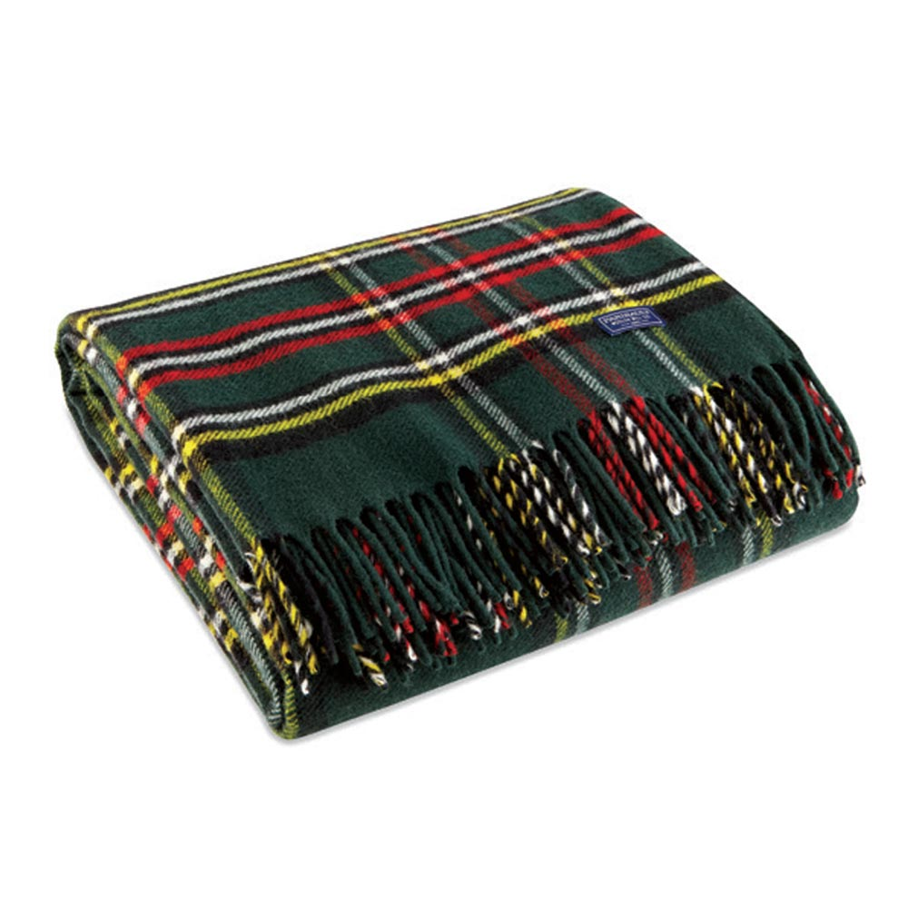 Green Stewart Wool Throw