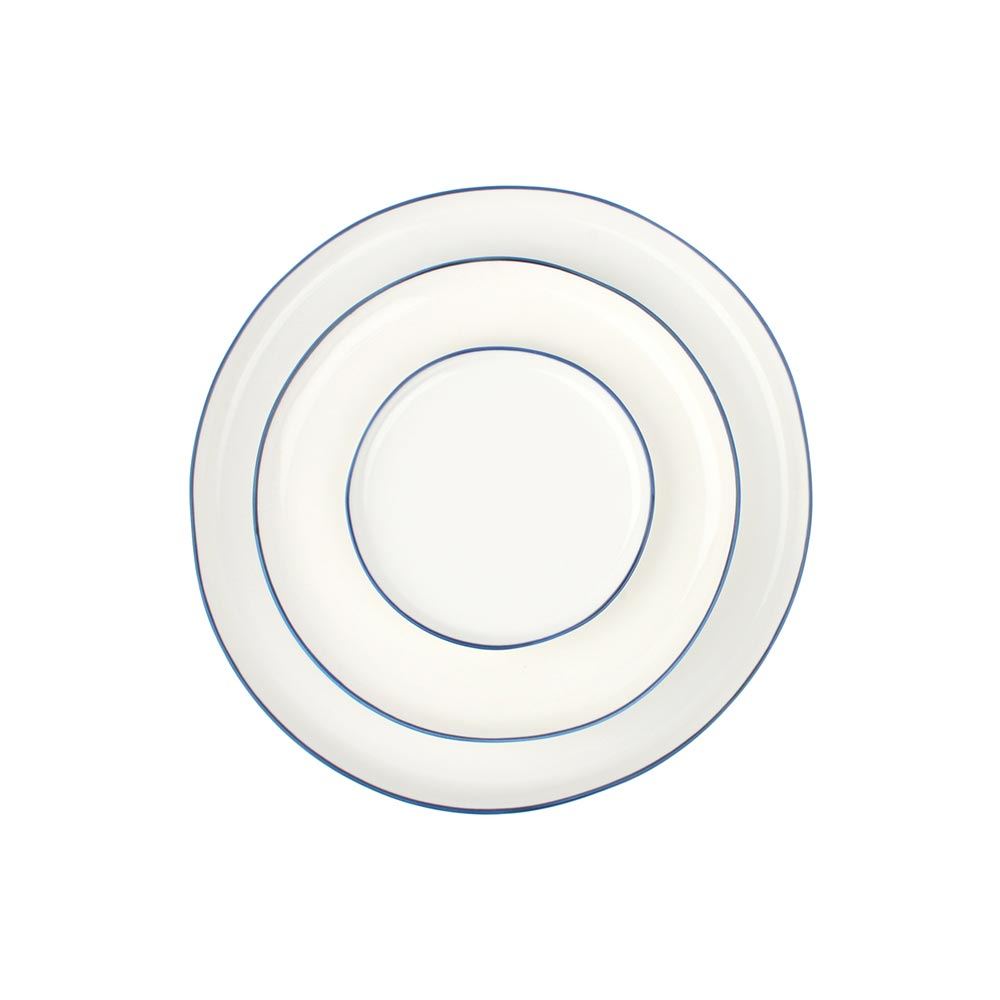 Abbesses Plates with Blue Rim