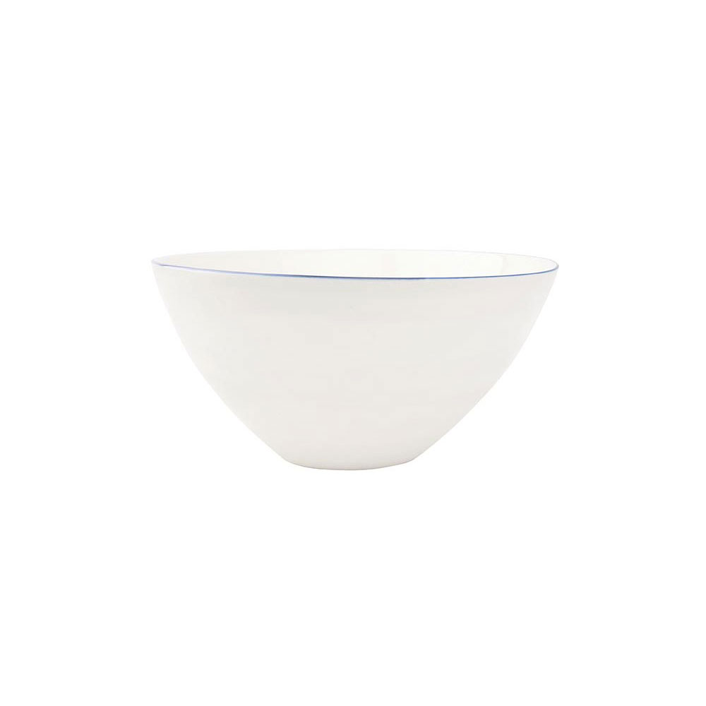 Abbesses Large Bowl with Blue Rim