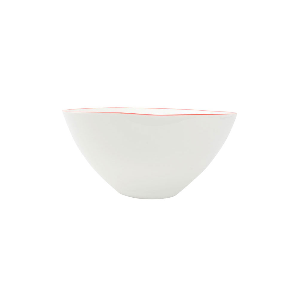 Abbesses Large Bowl with Red Rim