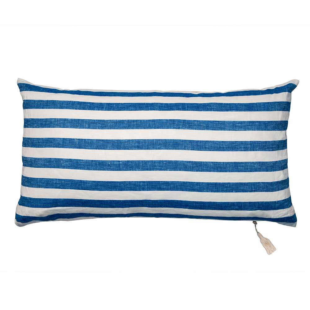 "Blue Sur la Mer Throw Pillow (14"" x 26"")"