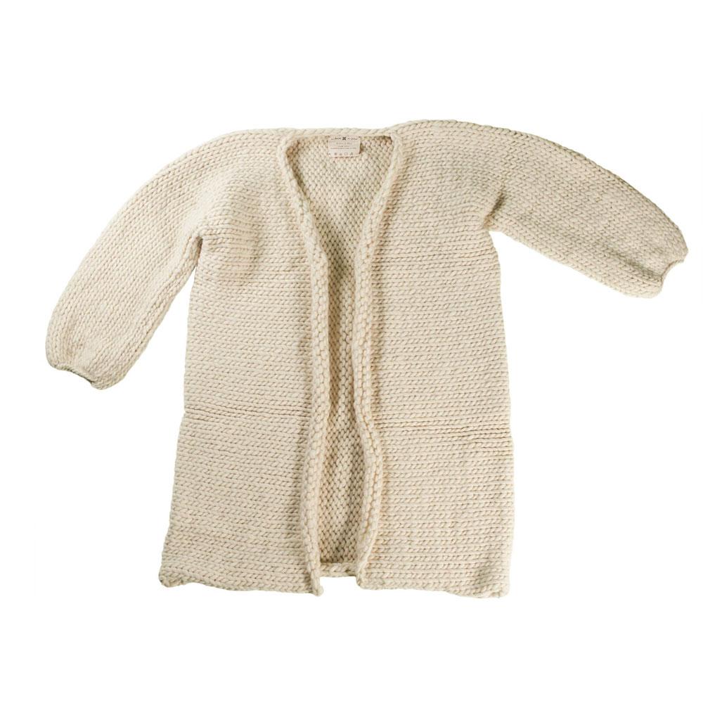 Ivory Chunky-Knit Jacket