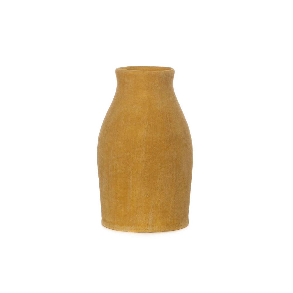 Gold Matte Bud Vase with Indigo Interior