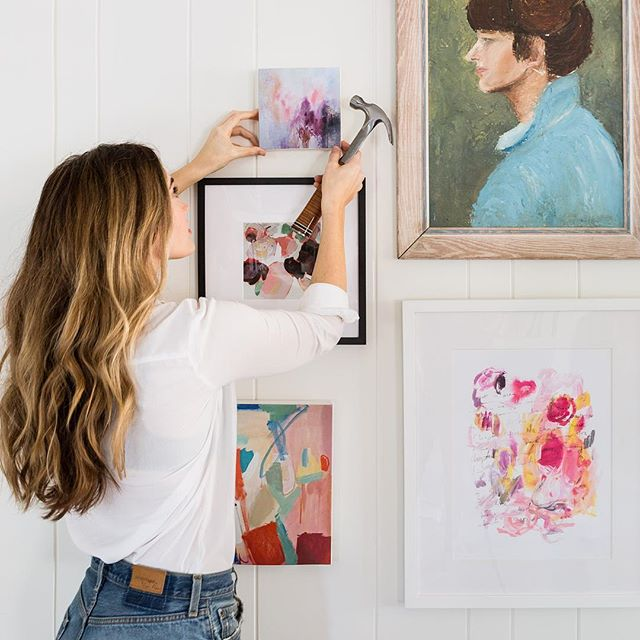Welcome spring with fresh and colorful art! All of these beauties are available at The Maryn (even the gorgeous vintage portrait! DM us if you'd like to snap it up!) #marynstyle 📷by @martaxperez model @amycrandallwhite