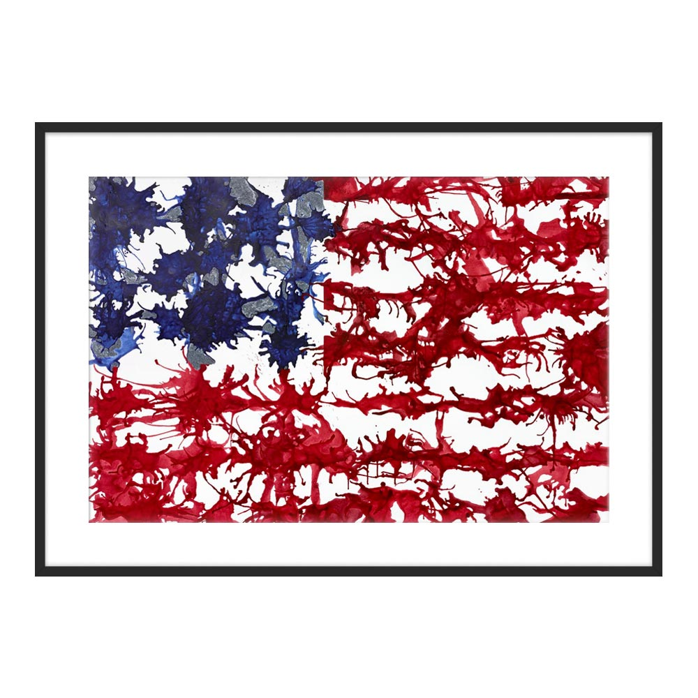 It Bleeds Red White and Blue by Kristin Gaudio Endsley for Artfully Walls