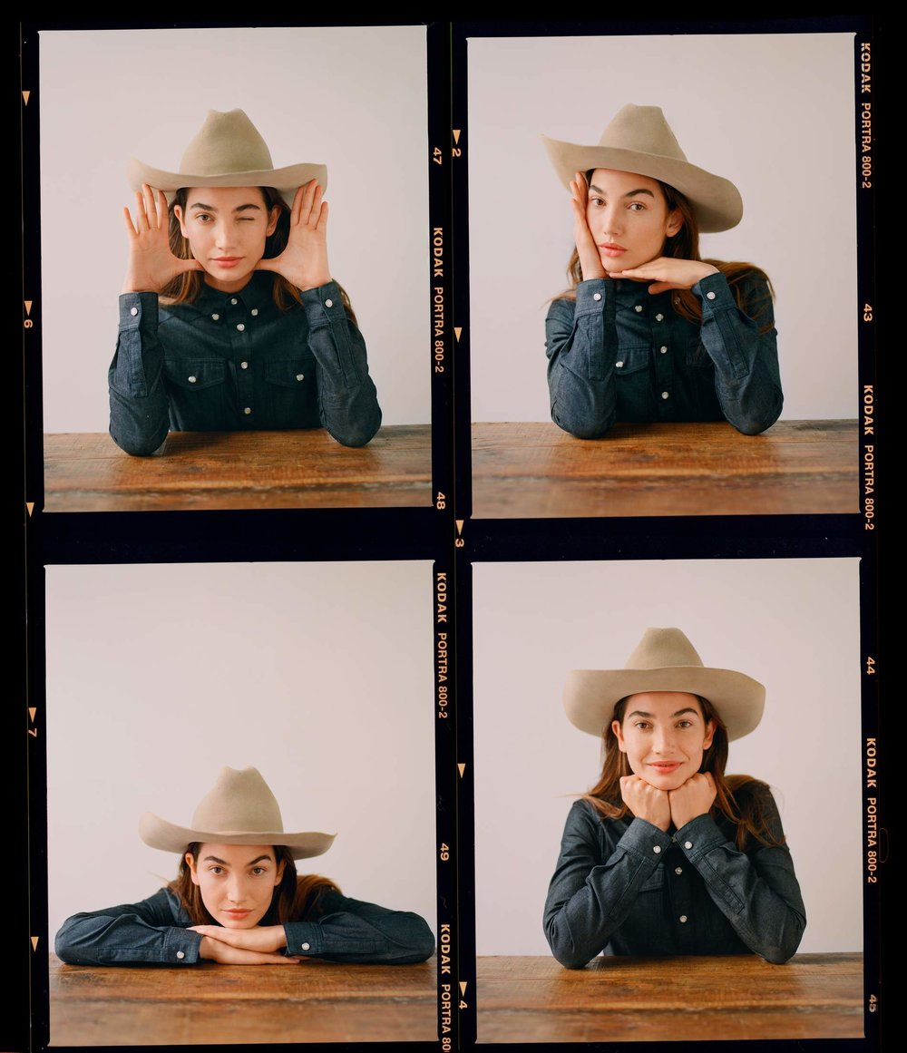 Wild West style with  Lily Aldridge on Net-A-Porter . Photography by Alexander Saladrigas and styling by Helen Broadfoot for  Net-A-Porter .