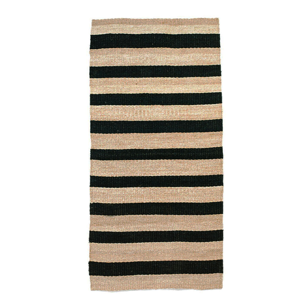 Charcoal Striped Runner