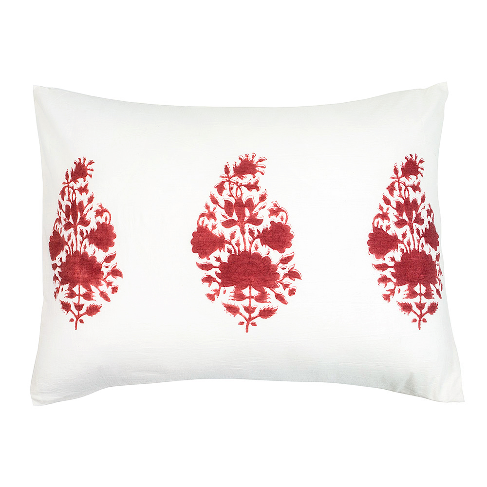 Ginette Pillow Cover in Madder Red (Pair)
