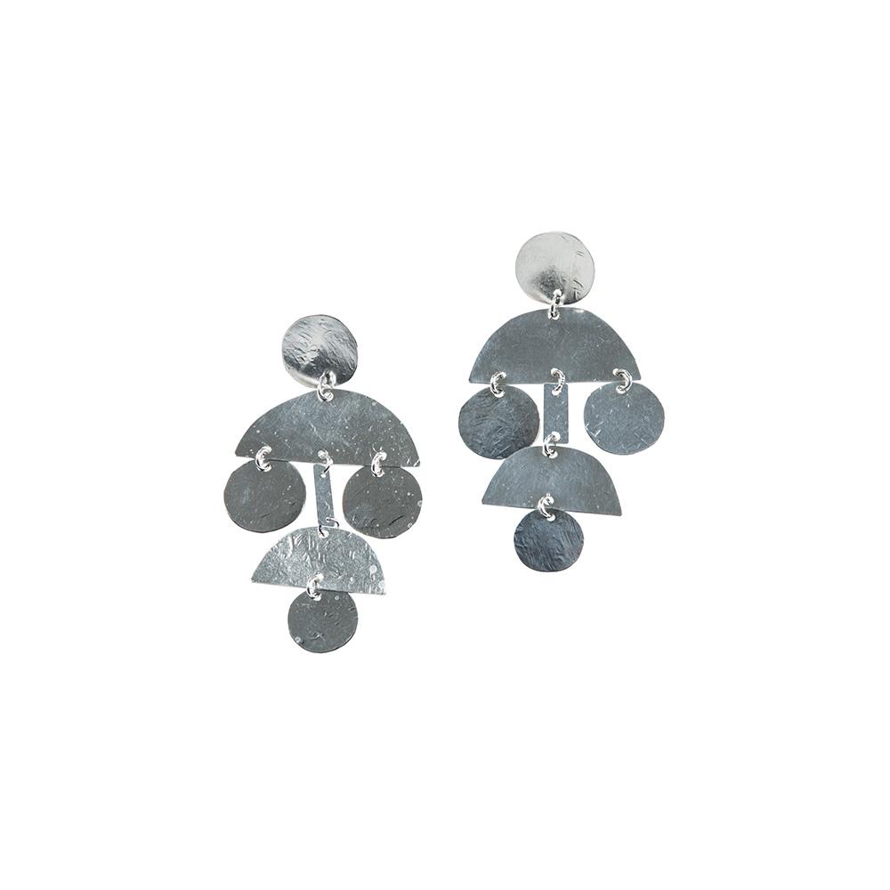 Mini Pom Pom Earrings in Sterling Silver