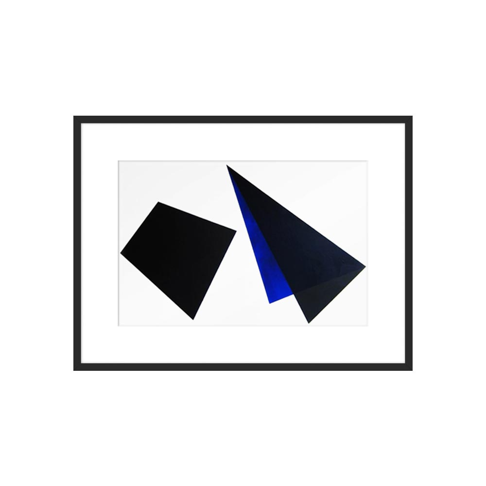 Black and Blue Shapes by Anna Ullman for Artfully Walls