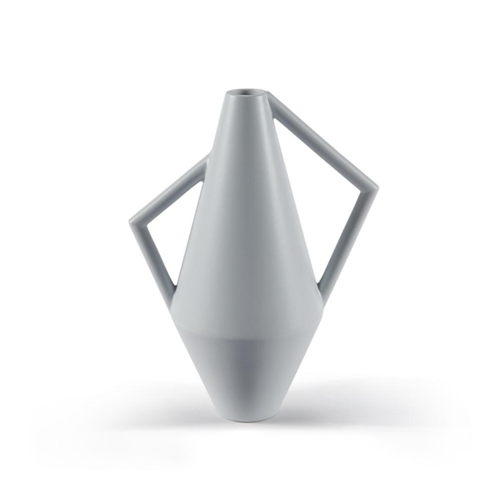 Silk Gray Kora Ceramic Vase