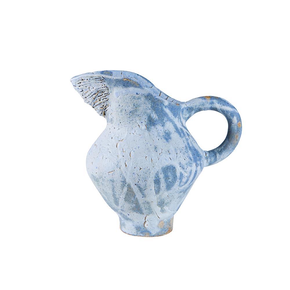 Fig. W Blue Ceramic Pitcher