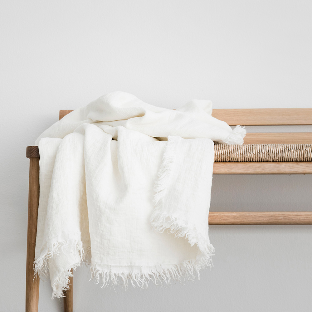 Milk Pure Linen Throw