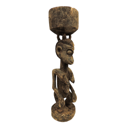Dogon African sculpture with bowl