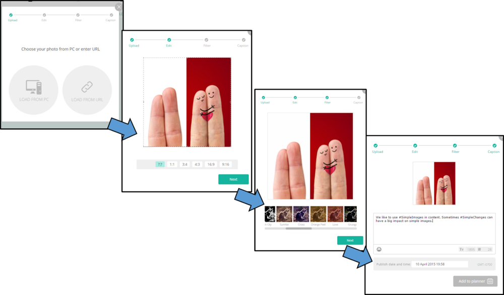 Image sequence from Onlypult Planner