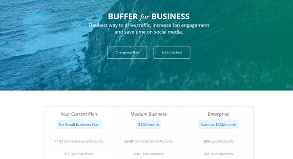 Buffer for Business price comparison