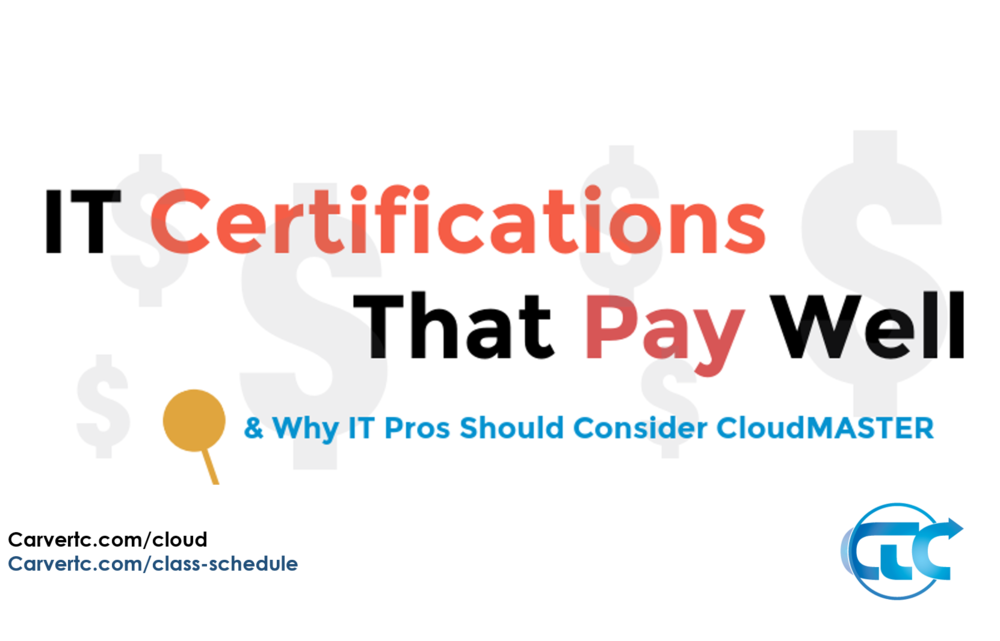 It Certifications Pay Why To Consider Cloudmaster Infographic