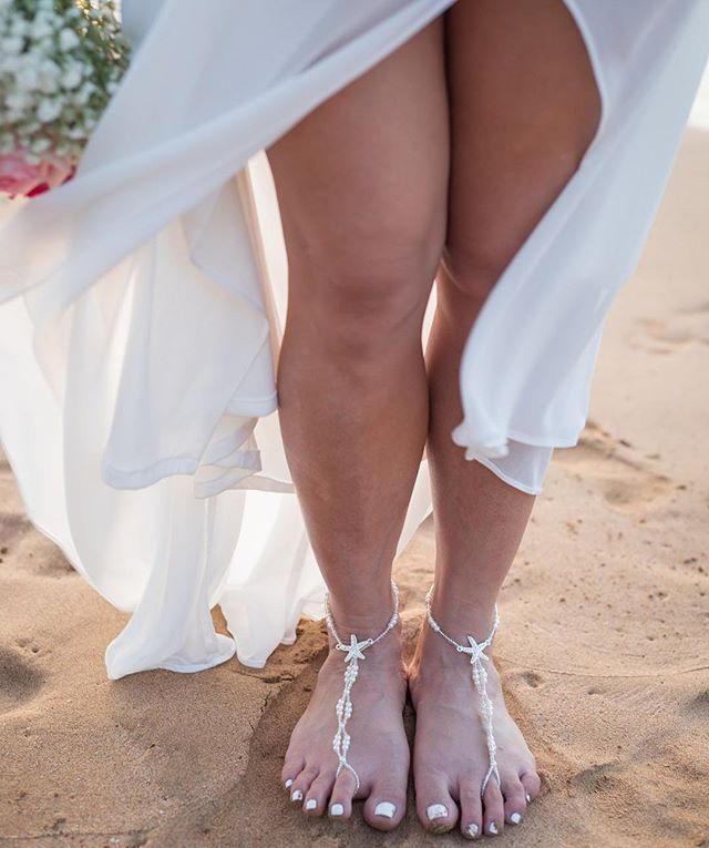 Barefoot weddings on the beach are always the best!