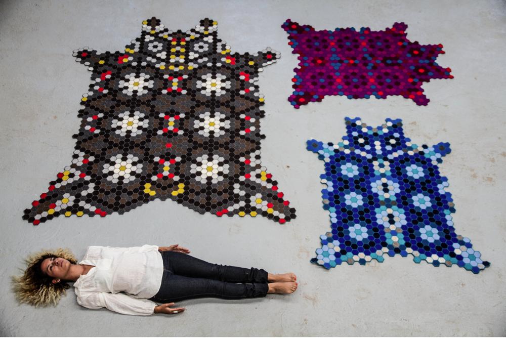 Huichol-tapestry-felt-handstiched-set-3-ElissaMedina-MarionFriedmannGallery.png