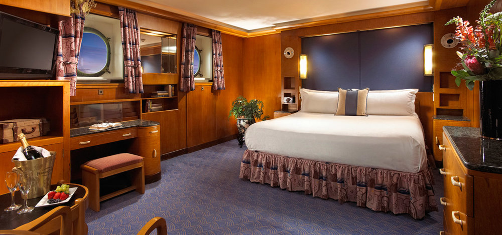 *No two rooms on the Queen Mary are alike so the winner's room may differ from the photo above.