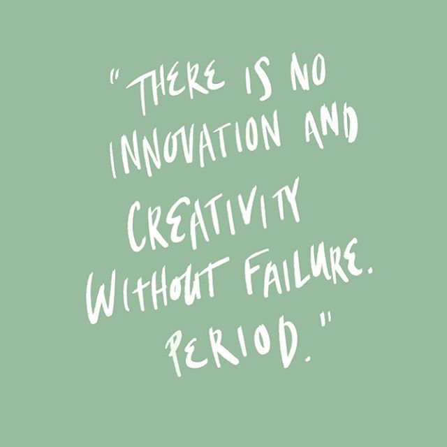 Learn and relearning this over and over again. #brenebrown #failure #creativity