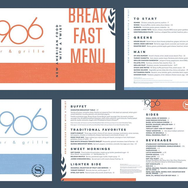 New menu designs on their way to be printed. Love how far we were able to push and explore for this set. #graphicdesign