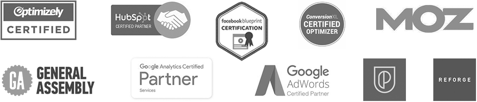 Marketing agency certifications