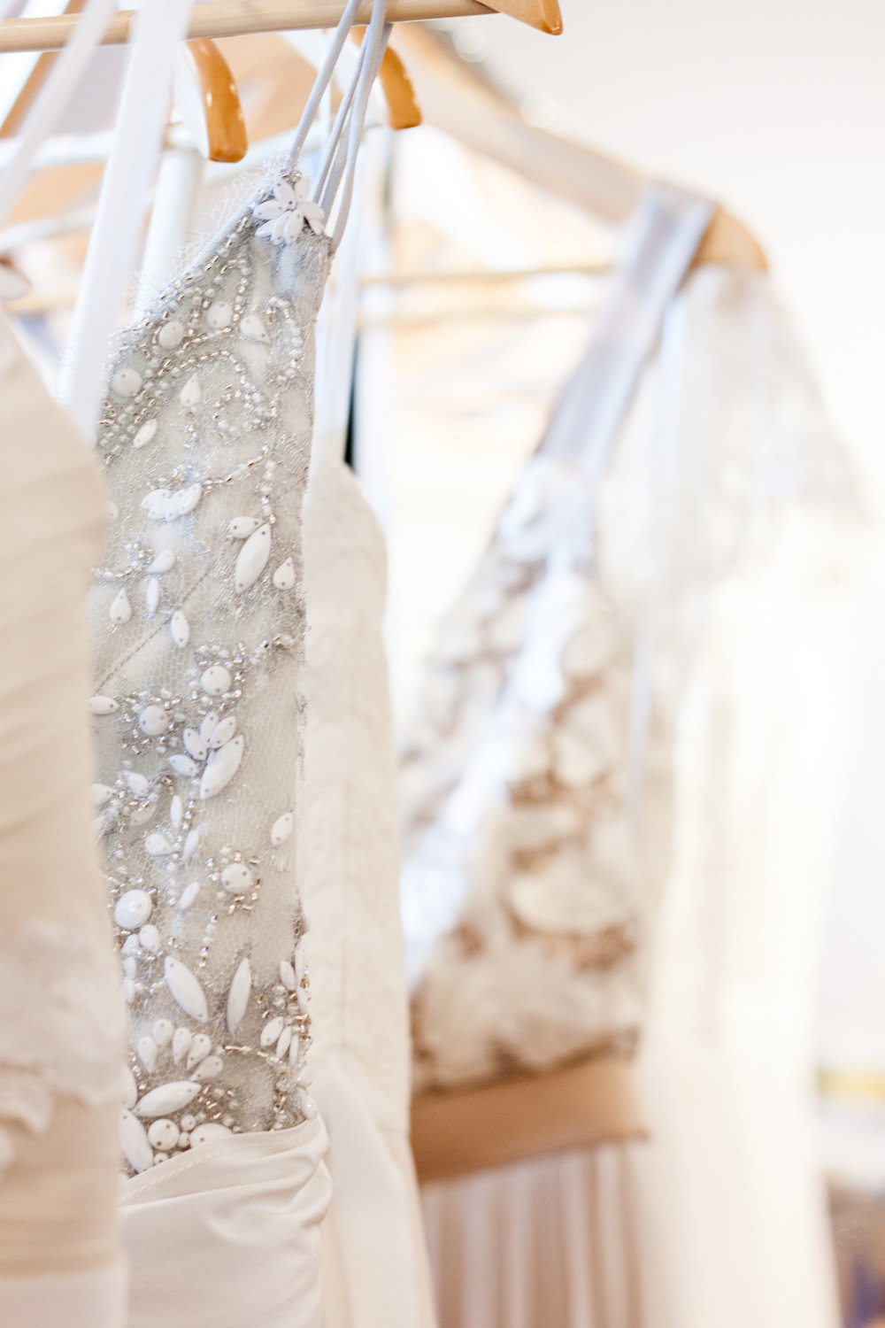 Close-up details of a Truvelle dress. Photo by Cassandra Lu