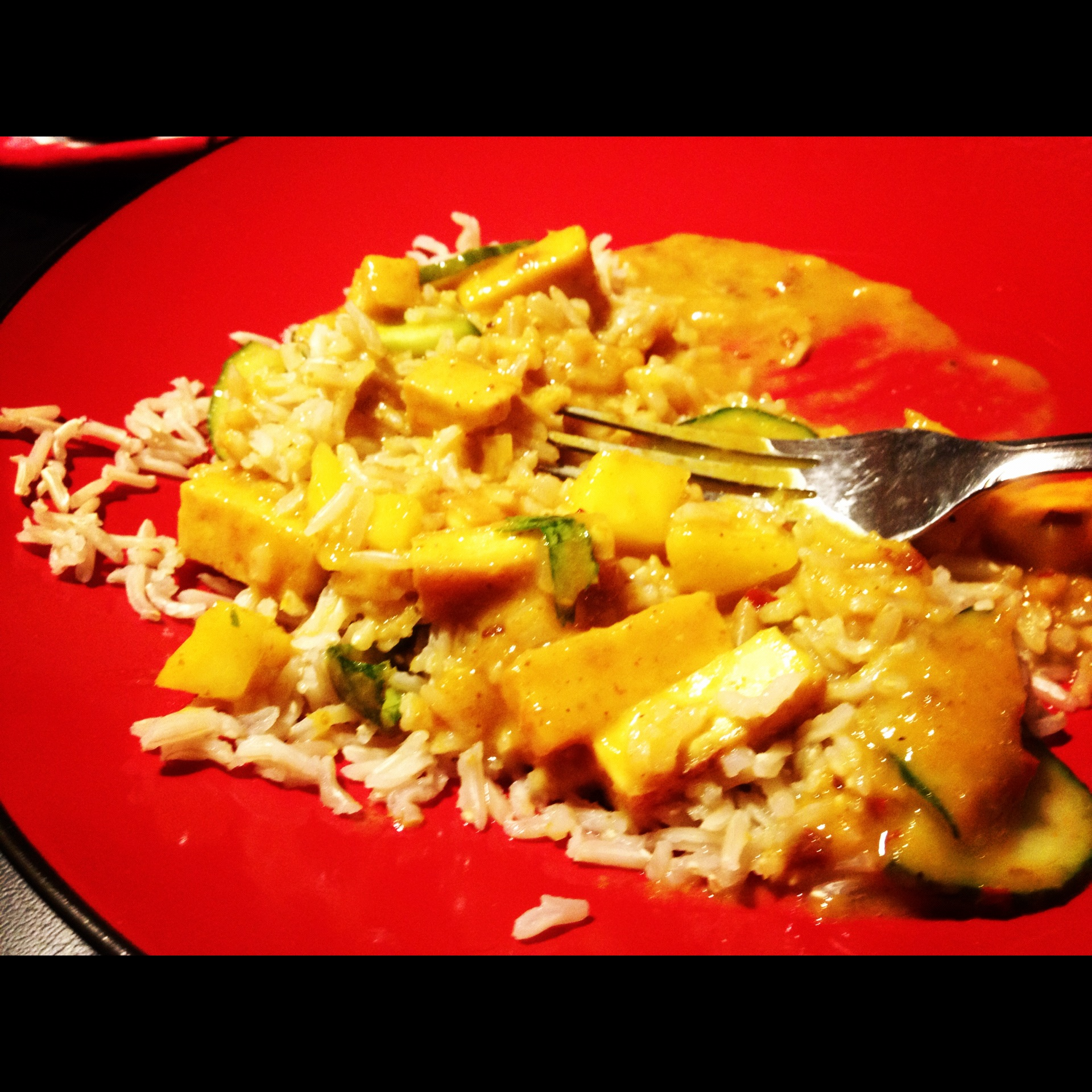 Cucumber Mango Tofu Curry