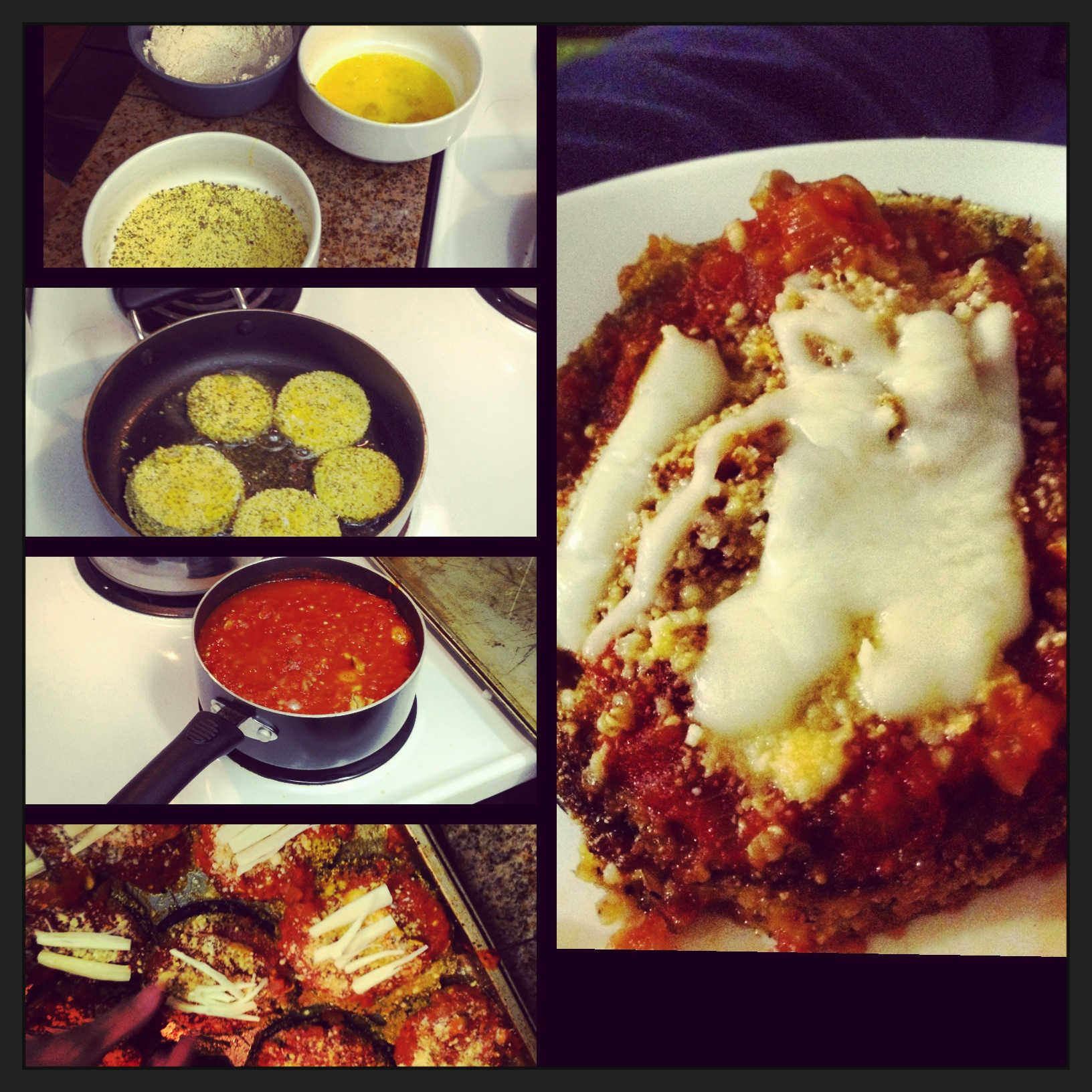 Damn, that's good Eggplant Parmesan!