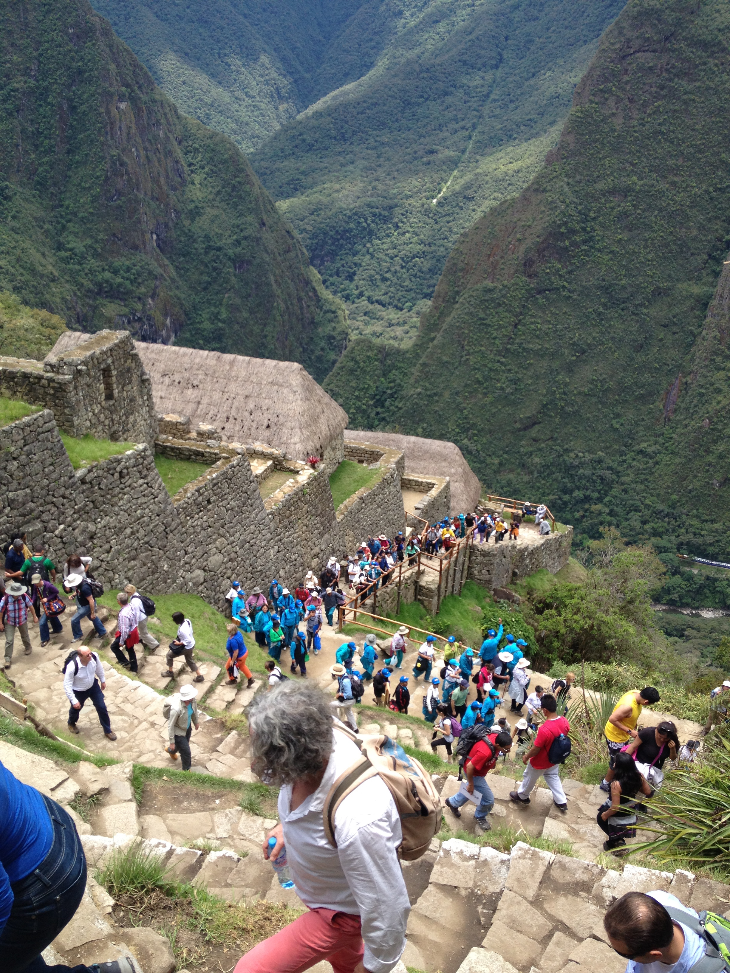 This gives you a feel for how busy Machu Picchu can get. We called the people in blue, smurfs, because they were EVERYWHERE!