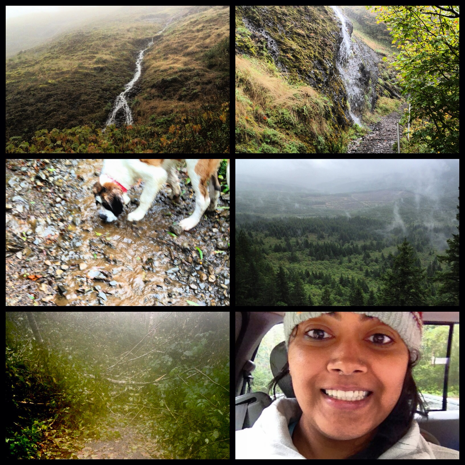 Practice hike in the rain