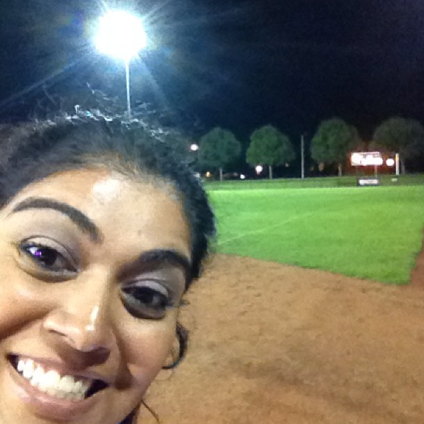 Selfies are sometimes the only option to capture the moment--like this one I had the walkoff winning hit in a playoff game for softball.