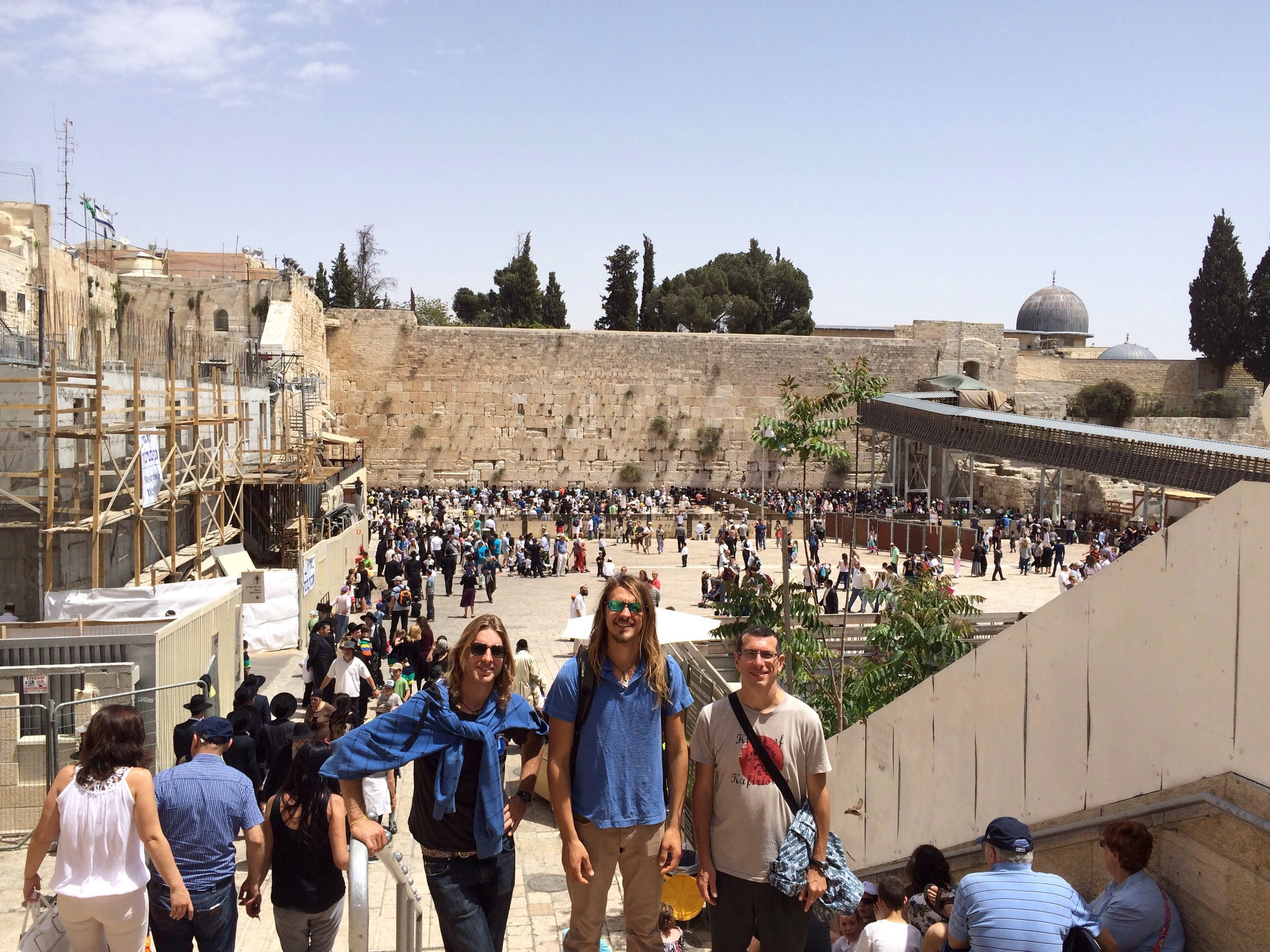 Chad, Tyler and Oded at the Western Wall