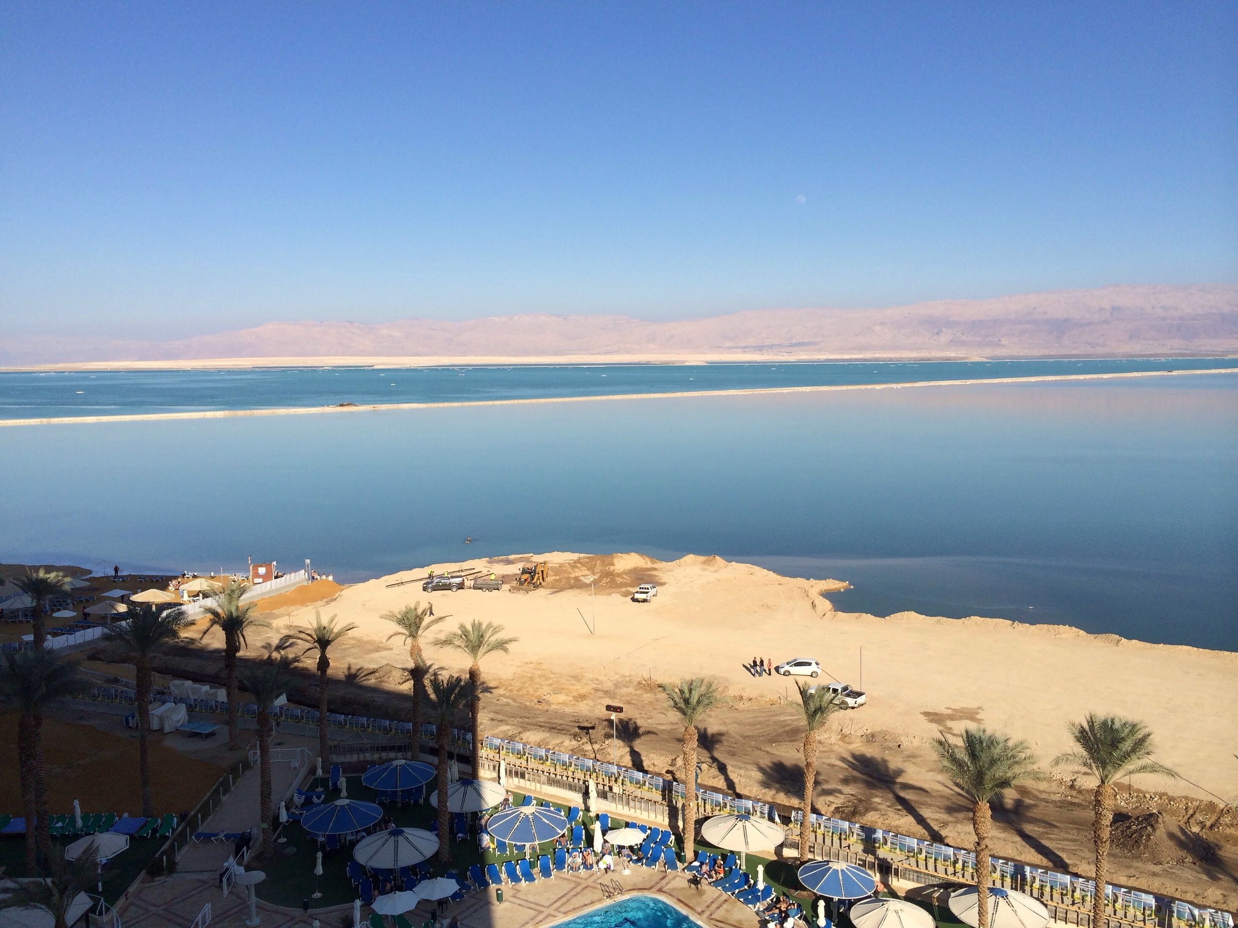 View of the Dead Sea from my trip with Beau, Urvi and Heeral