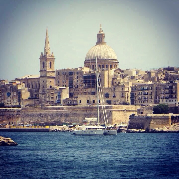 Jorge snapped this shot of Tell Star pulling into the Manoel Marina