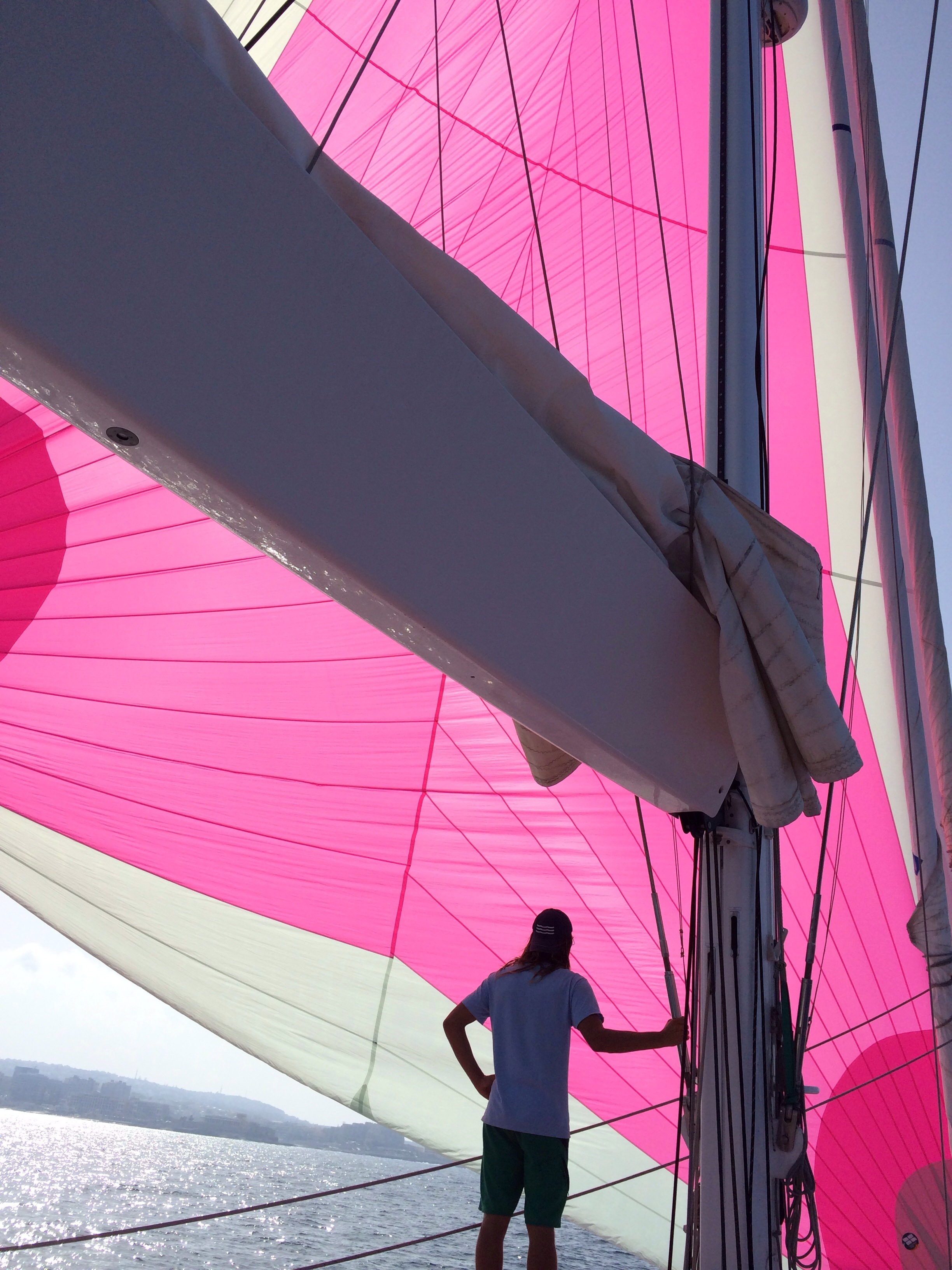 Hot pink sail--oh yes!