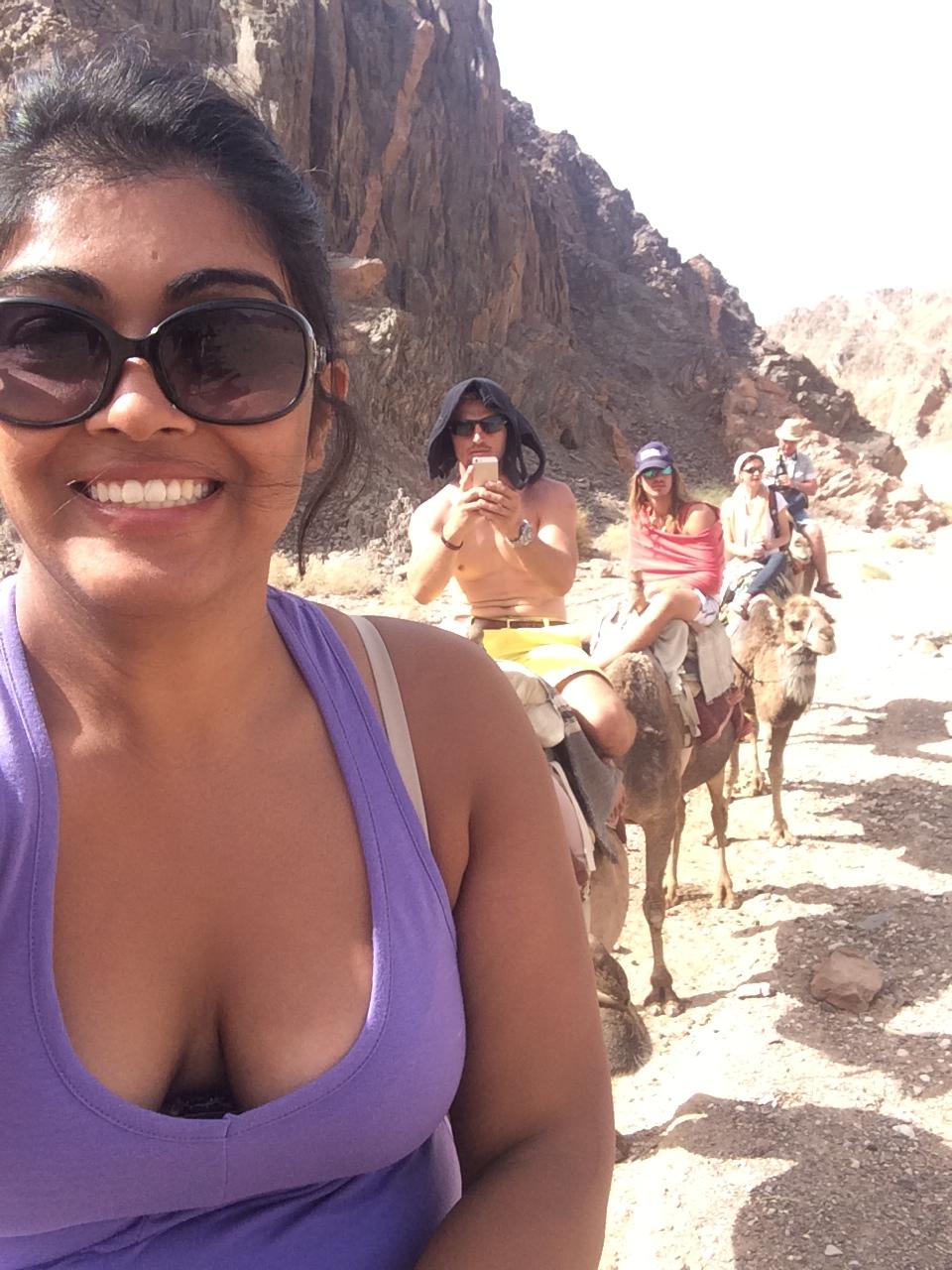 Tyler's first Camel ride