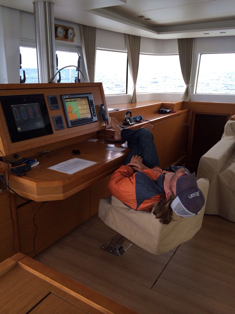 Besides the sleeping captain, notice how there's no clutter around? (FYI -- he wasn't on watch.)